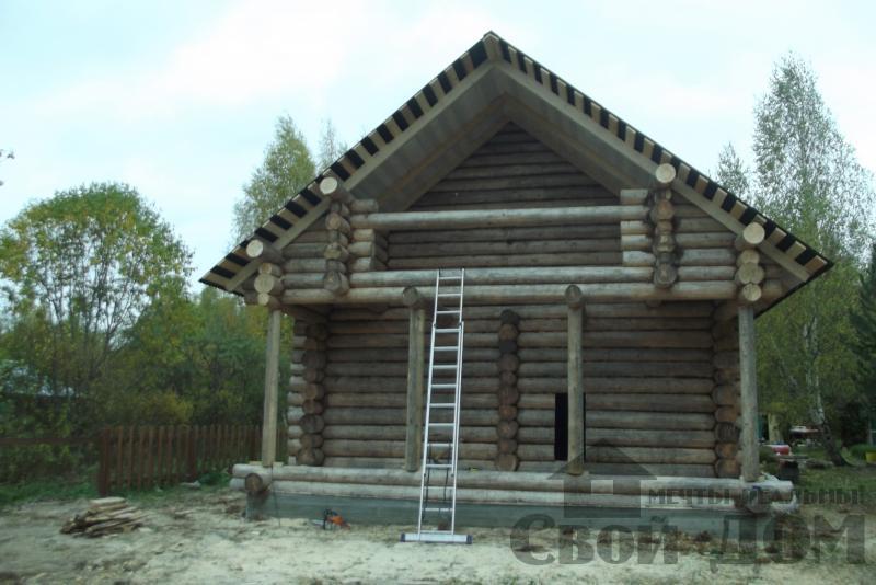 сруб 8 на 12 м Кимры, Тверская обл.. Фото 7