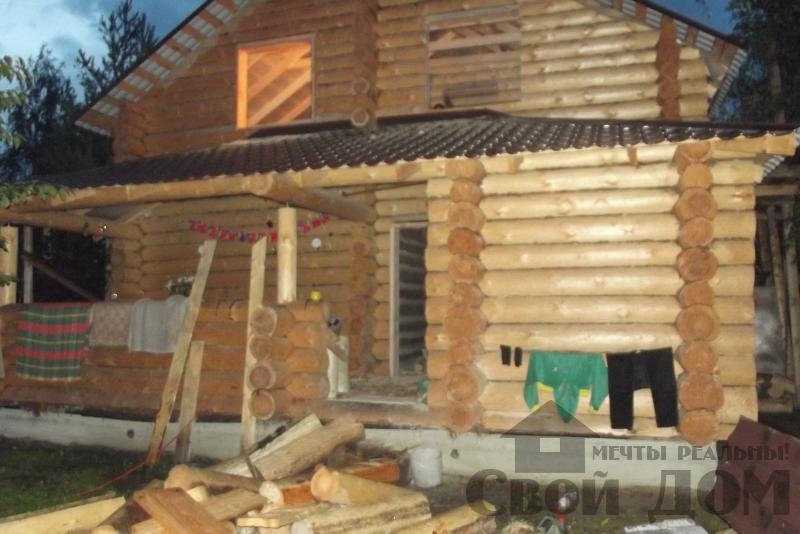 Дом из бревна 7*10 в п. Воровского, Ногинский р-н. Фото 5