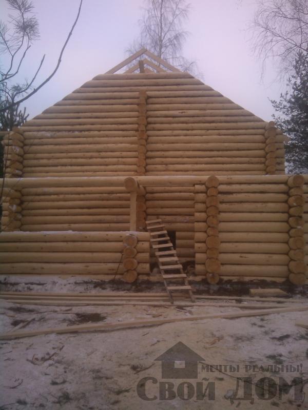 Дом из бревна 7*10 в п. Воровского, Ногинский р-н. Фото 7