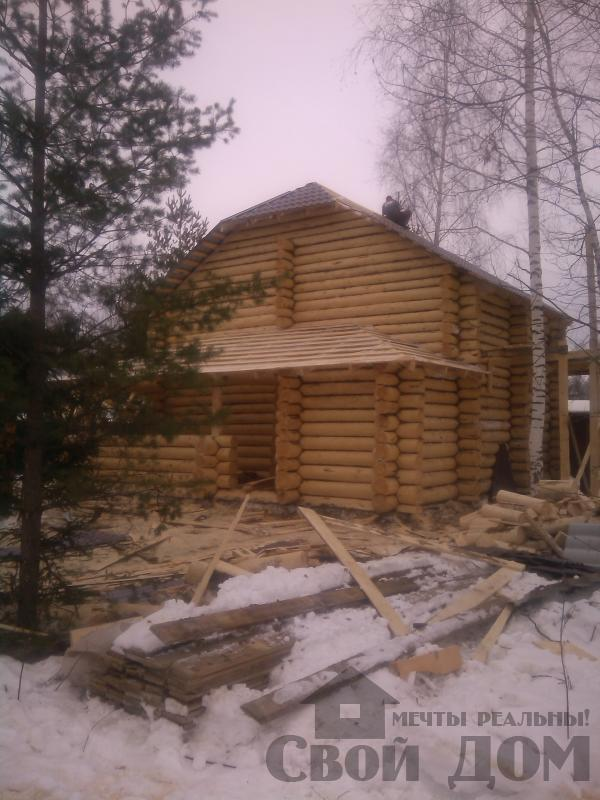 Дом из бревна 7*10 в п. Воровского, Ногинский р-н. Фото 10