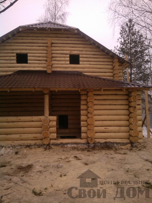 Дом из бревна 7*10 в п. Воровского, Ногинский р-н. Фото 11