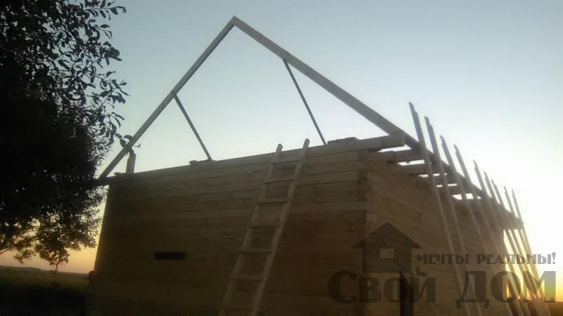 Дом по проекту Брус 1, 6 на 9м собран в теплый угол. Фрязево, Ногинский р-н. Фото 2