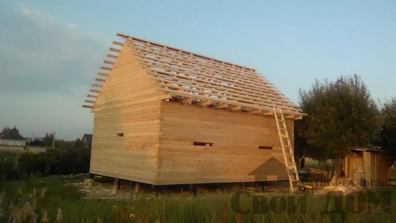 Дом по проекту Брус 1, 6 на 9м собран в теплый угол. Фрязево, Ногинский р-н. Фото 4