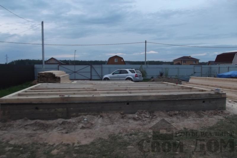 СНТ Ромашки, Чехов. Строительство дома 6*8 из профилированного бруса 150*200мм. Фото 1