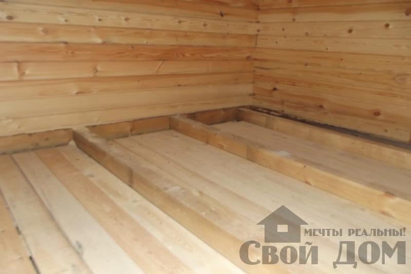 СНТ Ромашки, Чехов. Строительство дома 6*8 из профилированного бруса 150*200мм. Фото 10