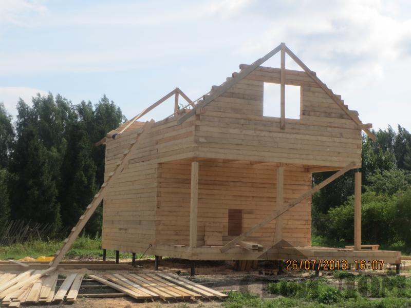 Ярославль. Дом из простого бруса 150*150мм для постоянного проживания 6 на 9. Фото 7