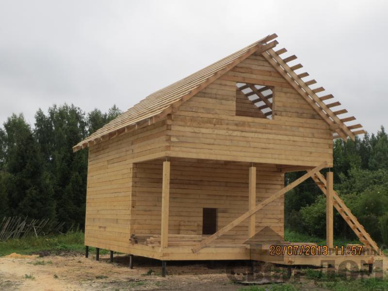 Ярославль. Дом из простого бруса 150*150мм для постоянного проживания 6 на 9. Фото 4
