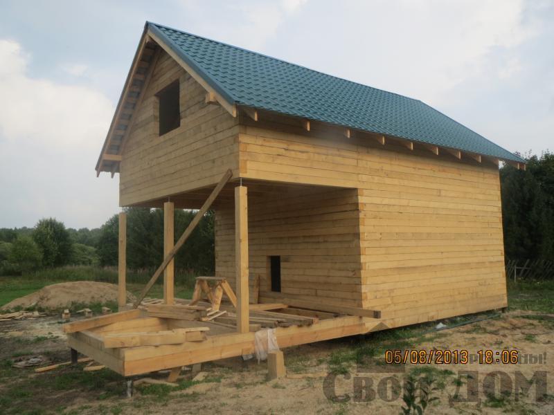 Ярославль. Дом из простого бруса 150*150мм для постоянного проживания 6 на 9. Фото 1