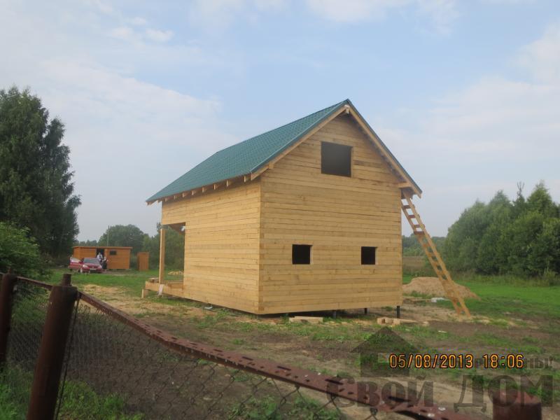 Ярославль. Дом из простого бруса 150*150мм для постоянного проживания 6 на 9. Фото 8