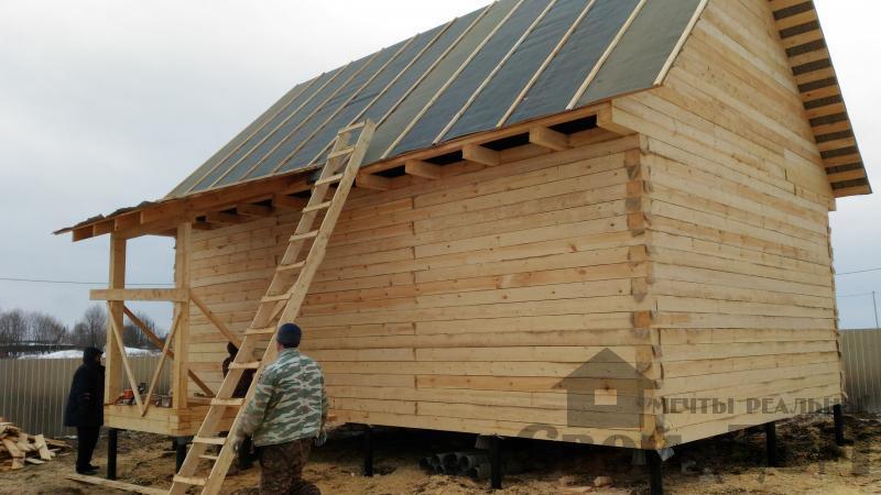 Дом 6 на 9 по проекту Брус 1 для постоянного проживания в Киржаче. Фото 1