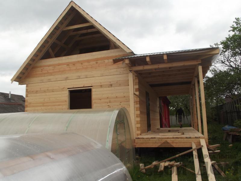 Строительство дома 7 на 9 из профилированного бруса в п. Белый Раст. Фото 2