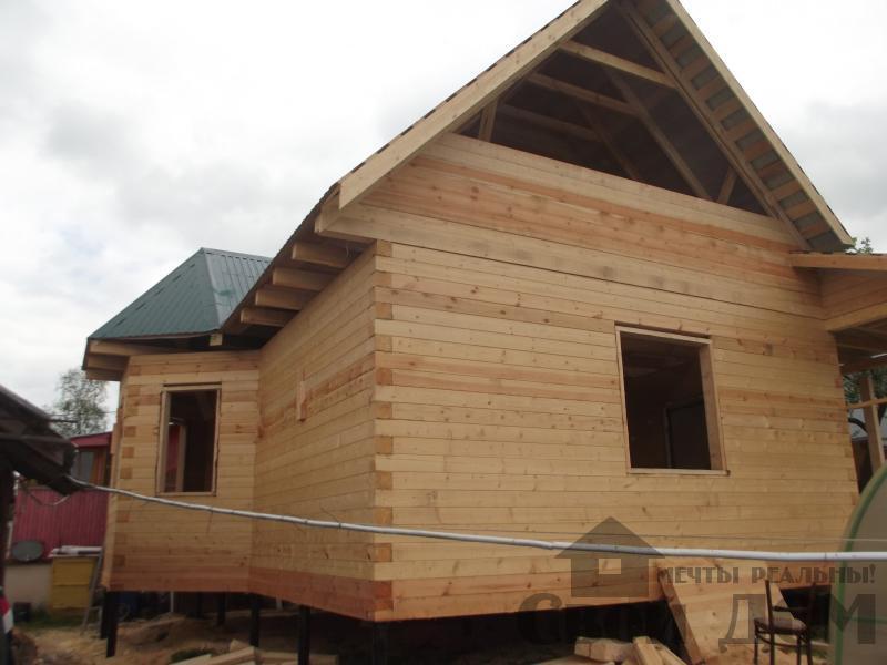 Строительство дома 7 на 9 из профилированного бруса в п. Белый Раст. Фото 58