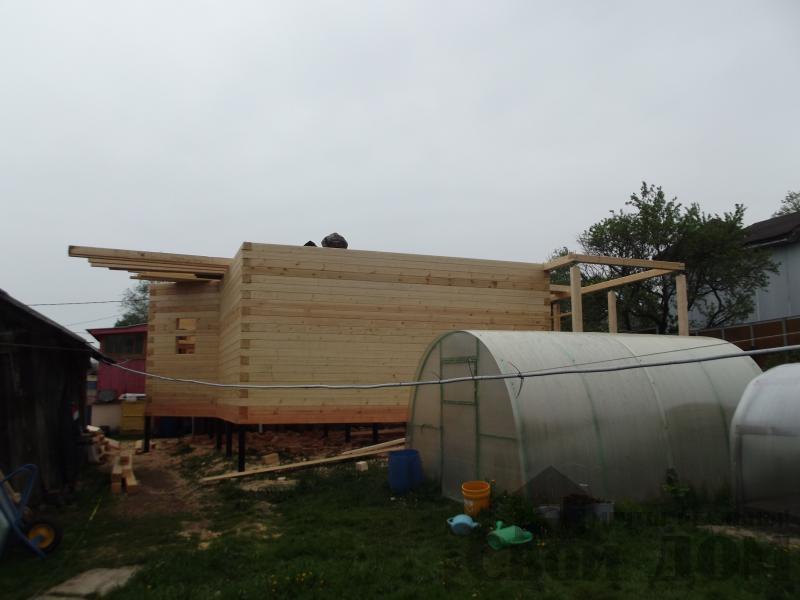 Строительство дома 7 на 9 из профилированного бруса в п. Белый Раст. Фото 4
