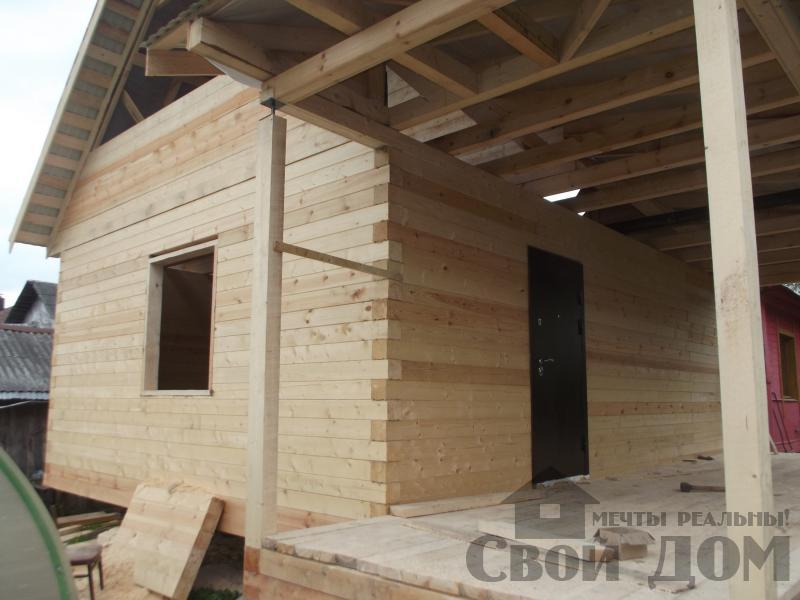 Строительство дома 7 на 9 из профилированного бруса в п. Белый Раст. Фото 5
