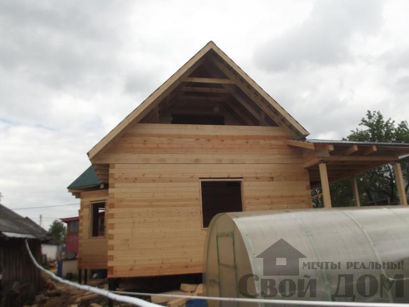 Строительство дома 7 на 9 из профилированного бруса в п. Белый Раст. Фото 6
