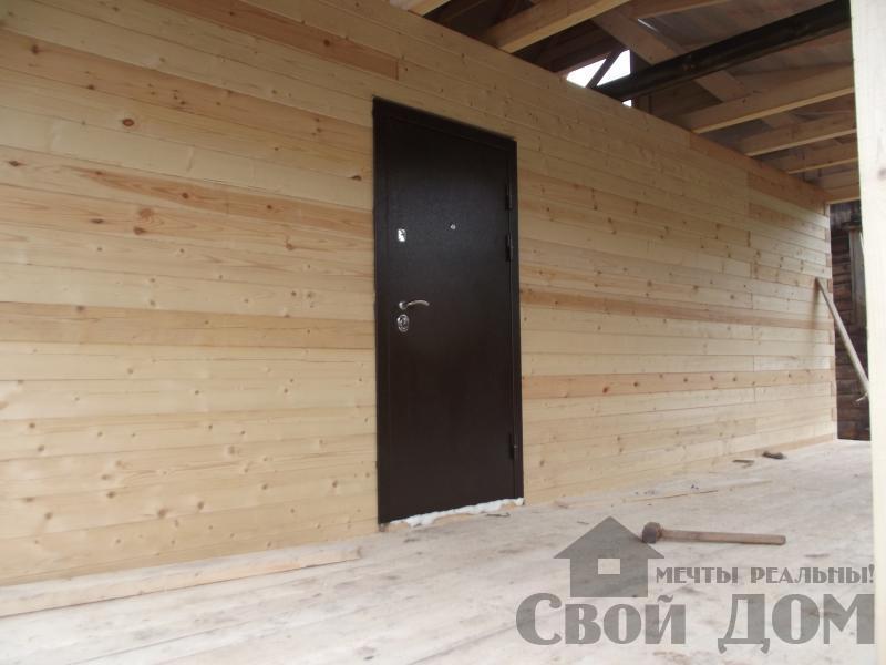 Строительство дома 7 на 9 из профилированного бруса в п. Белый Раст. Фото 7