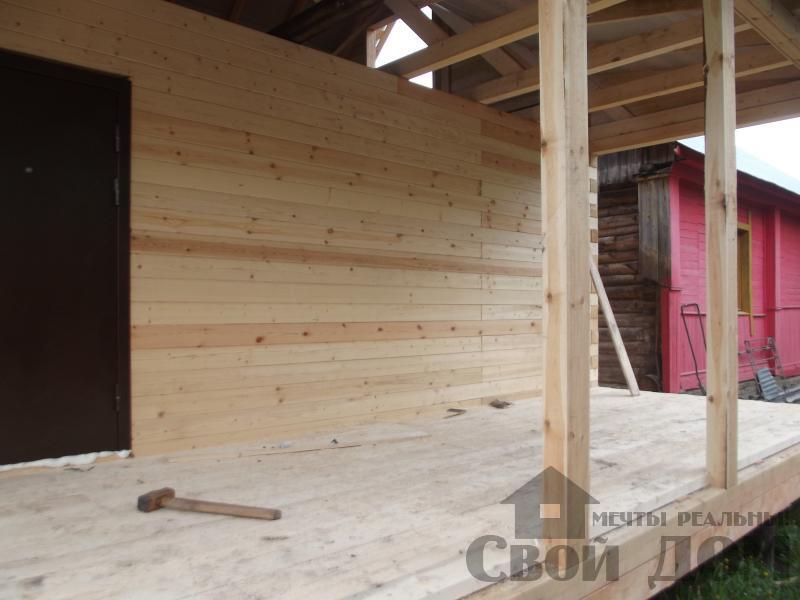 Строительство дома 7 на 9 из профилированного бруса в п. Белый Раст. Фото 8