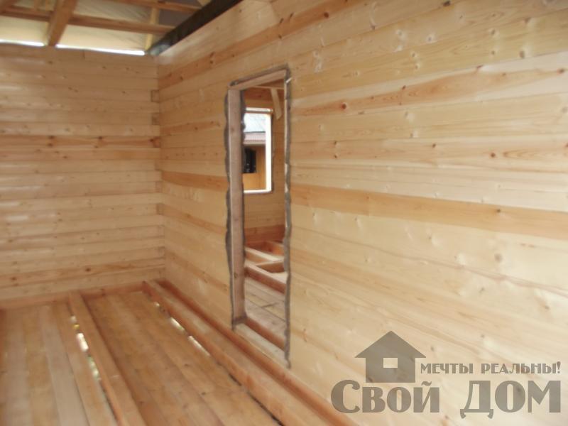 Строительство дома 7 на 9 из профилированного бруса в п. Белый Раст. Фото 9