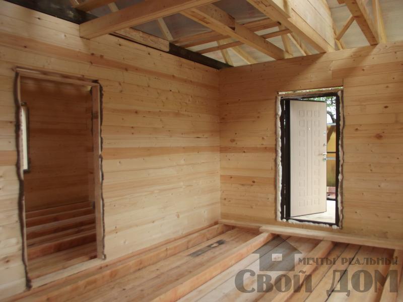 Строительство дома 7 на 9 из профилированного бруса в п. Белый Раст. Фото 12