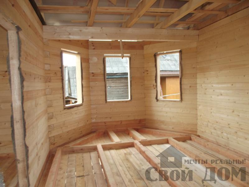 Строительство дома 7 на 9 из профилированного бруса в п. Белый Раст. Фото 13