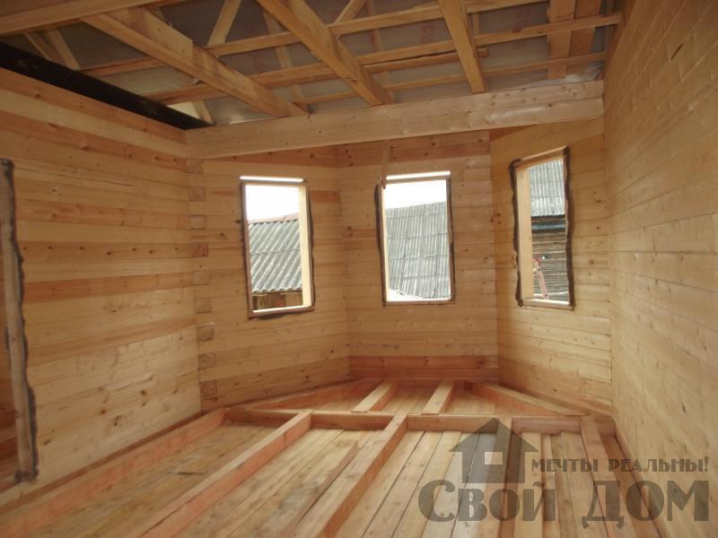 Строительство дома 7 на 9 из профилированного бруса в п. Белый Раст. Фото 17