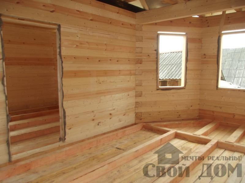 Строительство дома 7 на 9 из профилированного бруса в п. Белый Раст. Фото 18