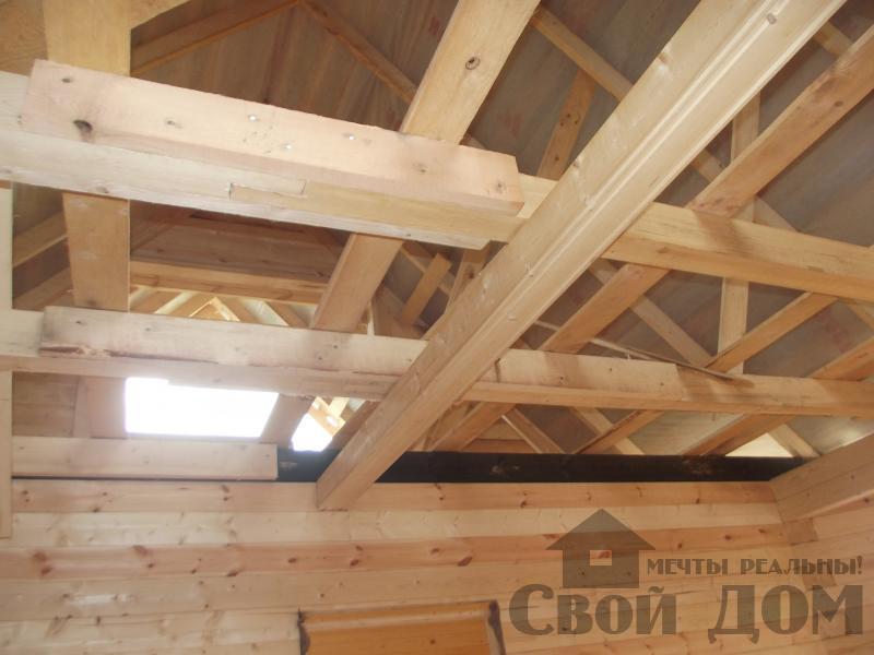 Строительство дома 7 на 9 из профилированного бруса в п. Белый Раст. Фото 19