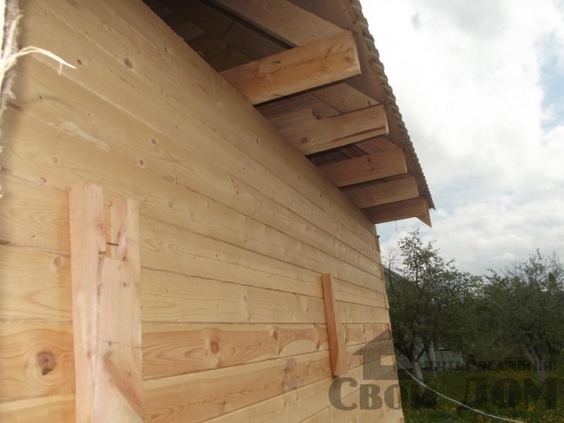Строительство дома 7 на 9 из профилированного бруса в п. Белый Раст. Фото 20