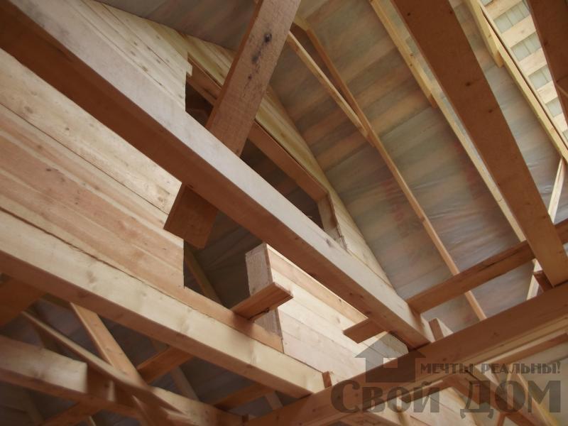 Строительство дома 7 на 9 из профилированного бруса в п. Белый Раст. Фото 22