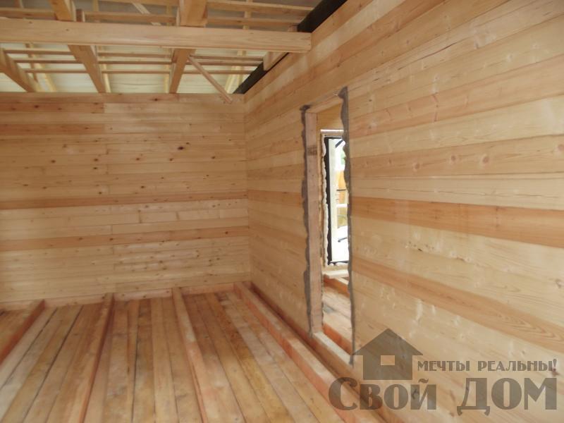 Строительство дома 7 на 9 из профилированного бруса в п. Белый Раст. Фото 23