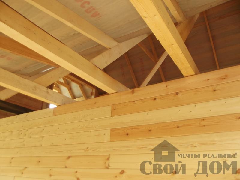 Строительство дома 7 на 9 из профилированного бруса в п. Белый Раст. Фото 24