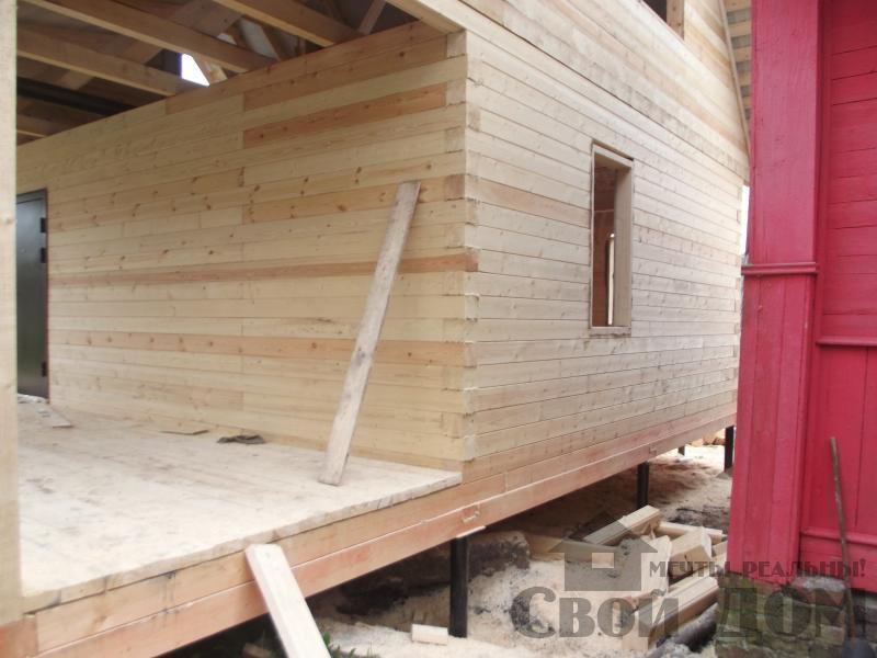 Строительство дома 7 на 9 из профилированного бруса в п. Белый Раст. Фото 26