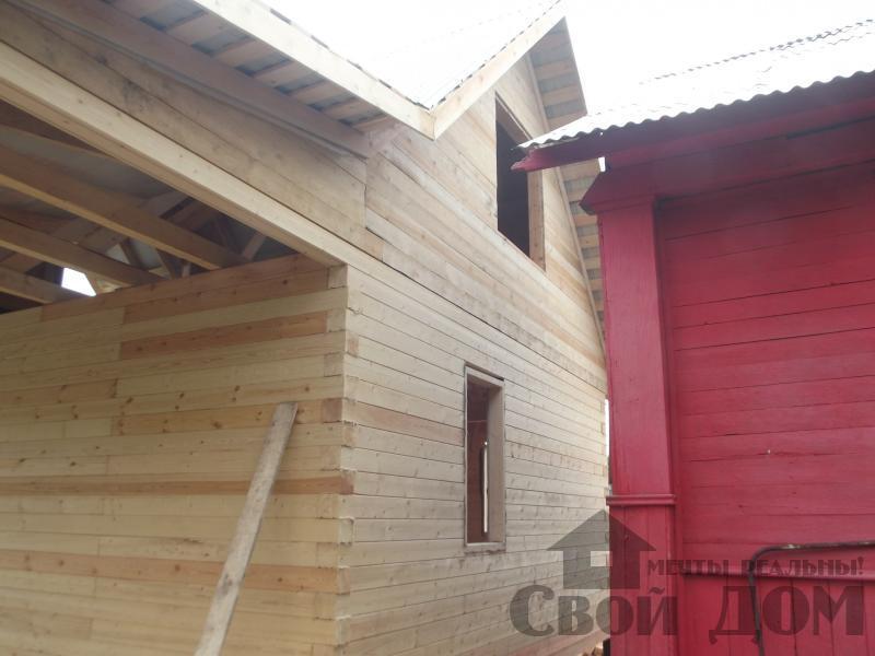 Строительство дома 7 на 9 из профилированного бруса в п. Белый Раст. Фото 28