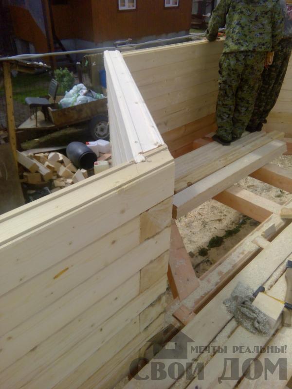 Строительство дома 7 на 9 из профилированного бруса в п. Белый Раст. Фото 29