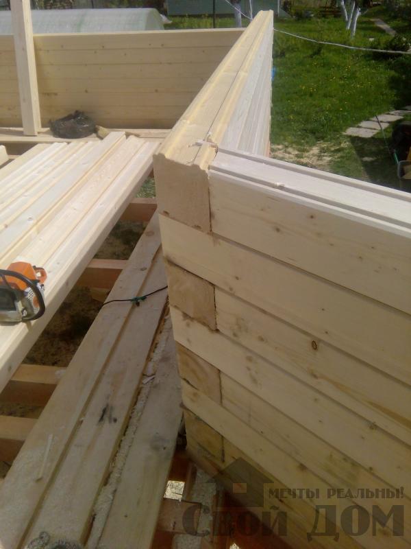 Строительство дома 7 на 9 из профилированного бруса в п. Белый Раст. Фото 30