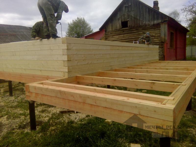 Строительство дома 7 на 9 из профилированного бруса в п. Белый Раст. Фото 31
