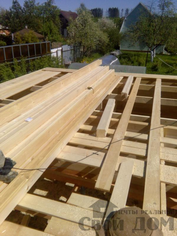 Строительство дома 7 на 9 из профилированного бруса в п. Белый Раст. Фото 32