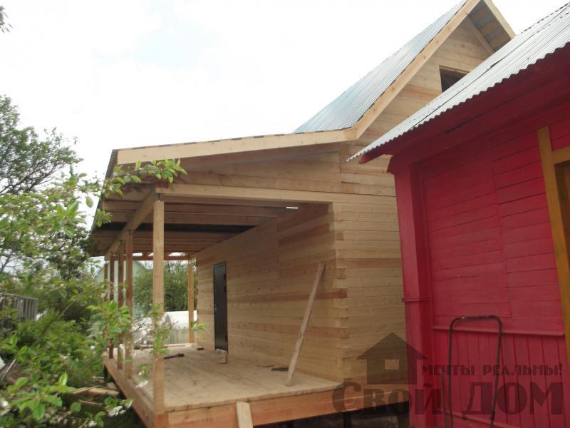 Строительство дома 7 на 9 из профилированного бруса в п. Белый Раст. Фото 33