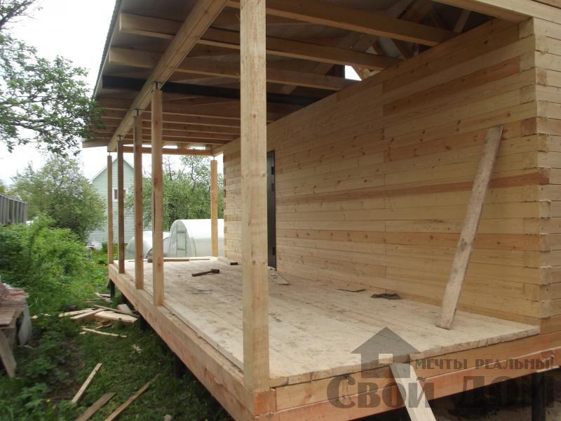 Строительство дома 7 на 9 из профилированного бруса в п. Белый Раст. Фото 34