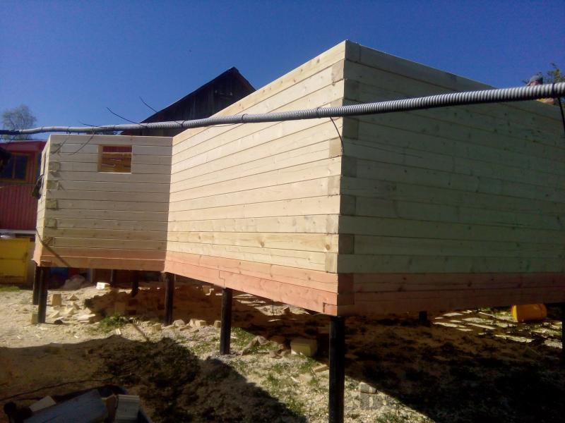 Строительство дома 7 на 9 из профилированного бруса в п. Белый Раст. Фото 35