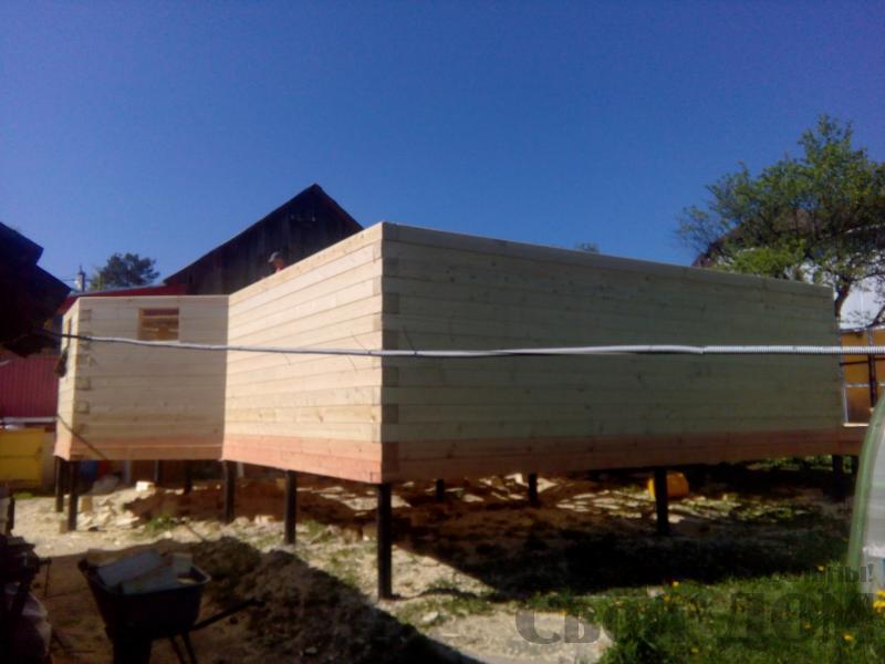 Строительство дома 7 на 9 из профилированного бруса в п. Белый Раст. Фото 36