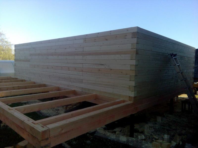 Строительство дома 7 на 9 из профилированного бруса в п. Белый Раст. Фото 37
