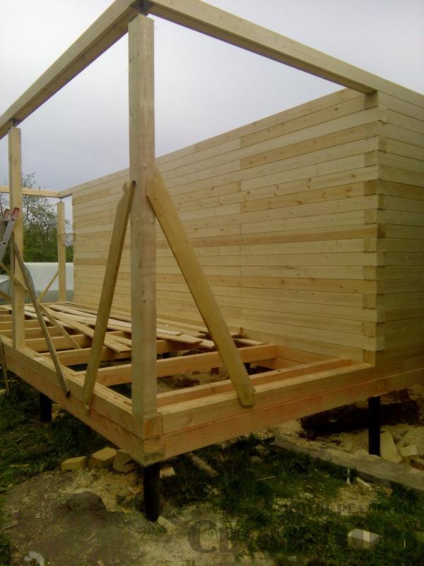 Строительство дома 7 на 9 из профилированного бруса в п. Белый Раст. Фото 38