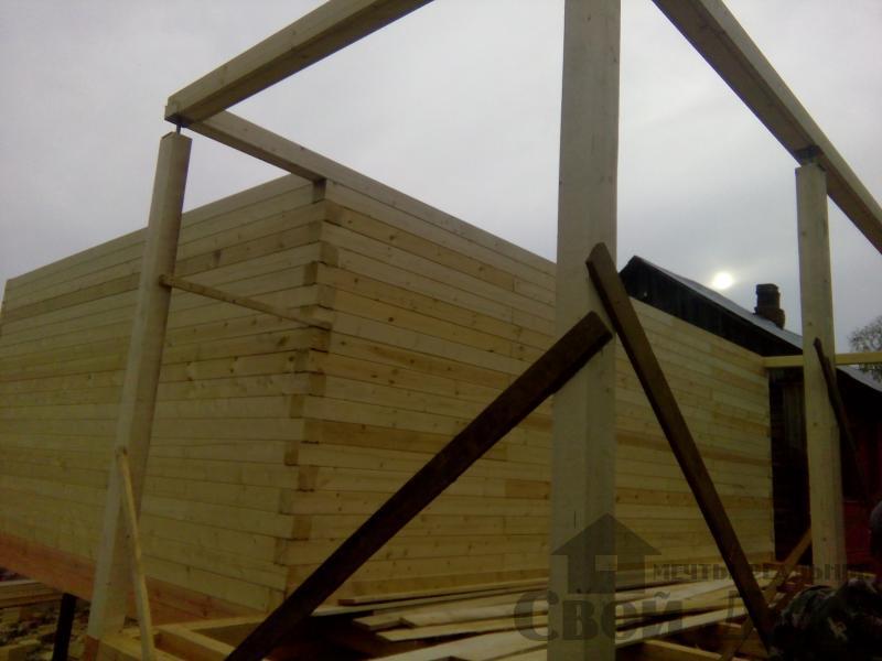 Строительство дома 7 на 9 из профилированного бруса в п. Белый Раст. Фото 39