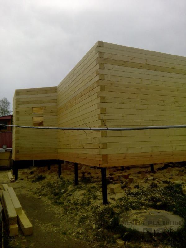 Строительство дома 7 на 9 из профилированного бруса в п. Белый Раст. Фото 40