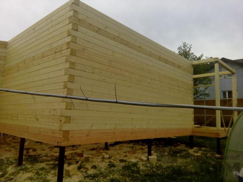 Строительство дома 7 на 9 из профилированного бруса в п. Белый Раст. Фото 41