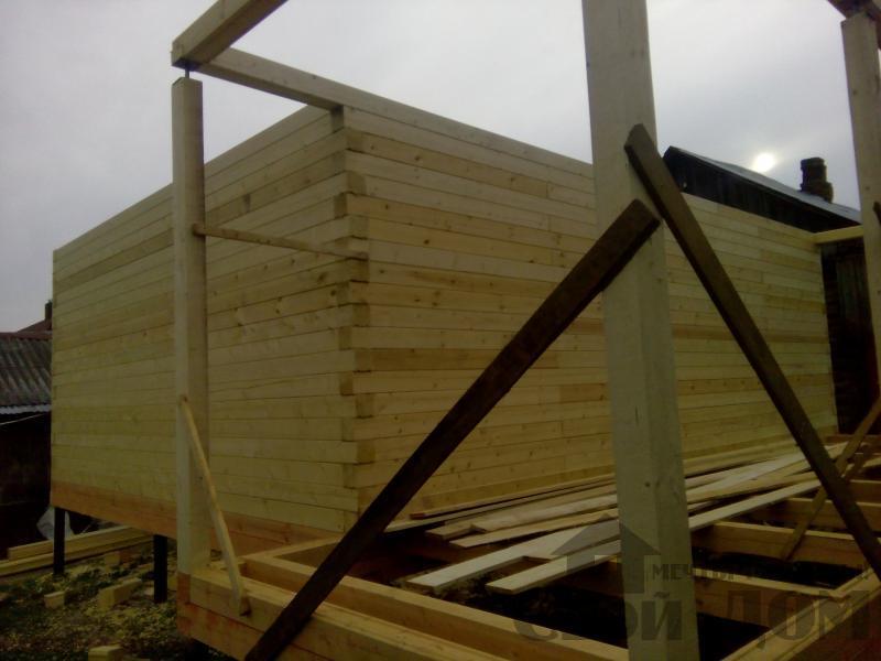Строительство дома 7 на 9 из профилированного бруса в п. Белый Раст. Фото 42