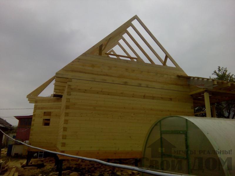 Строительство дома 7 на 9 из профилированного бруса в п. Белый Раст. Фото 43