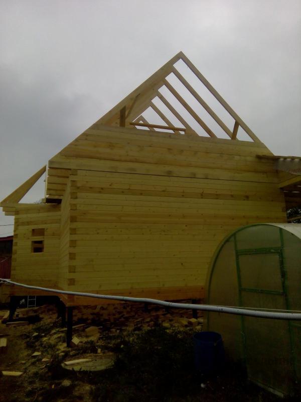 Строительство дома 7 на 9 из профилированного бруса в п. Белый Раст. Фото 44