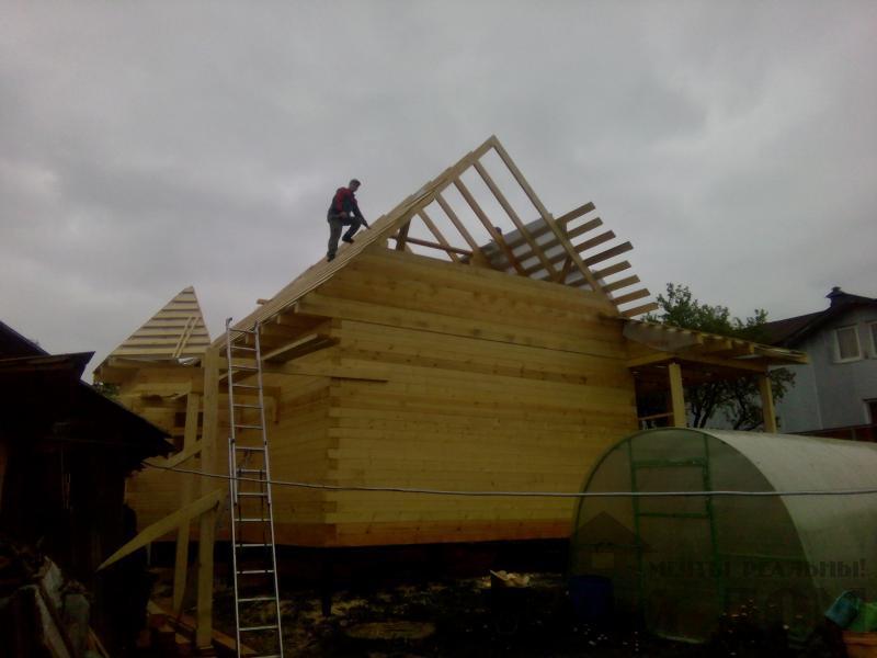 Строительство дома 7 на 9 из профилированного бруса в п. Белый Раст. Фото 45
